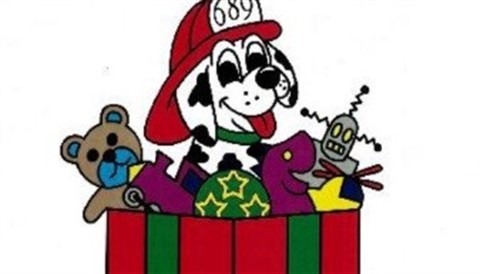 Toy program, dalmation in toy box