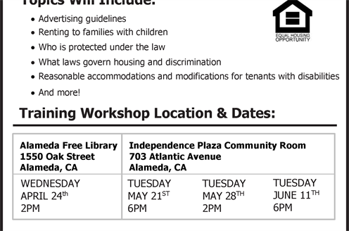 2019 Fair Housing Training flyer